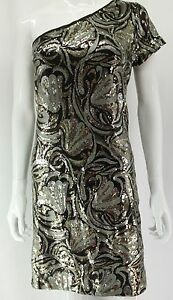 XL Taille  XS Femme Star Chic Easy Couture Robe Blanc  avec strass or