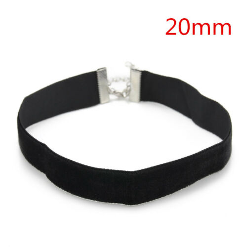 Punk  Black Velvet Charm Choker CHAIN Necklace Gothic Handmade Retro Jewelry CN