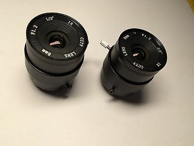 "1/3"" F1.2 CCTV  Lens Fixed Iris CS 8mm+CS Mount Holder For CCTV Security Camera"