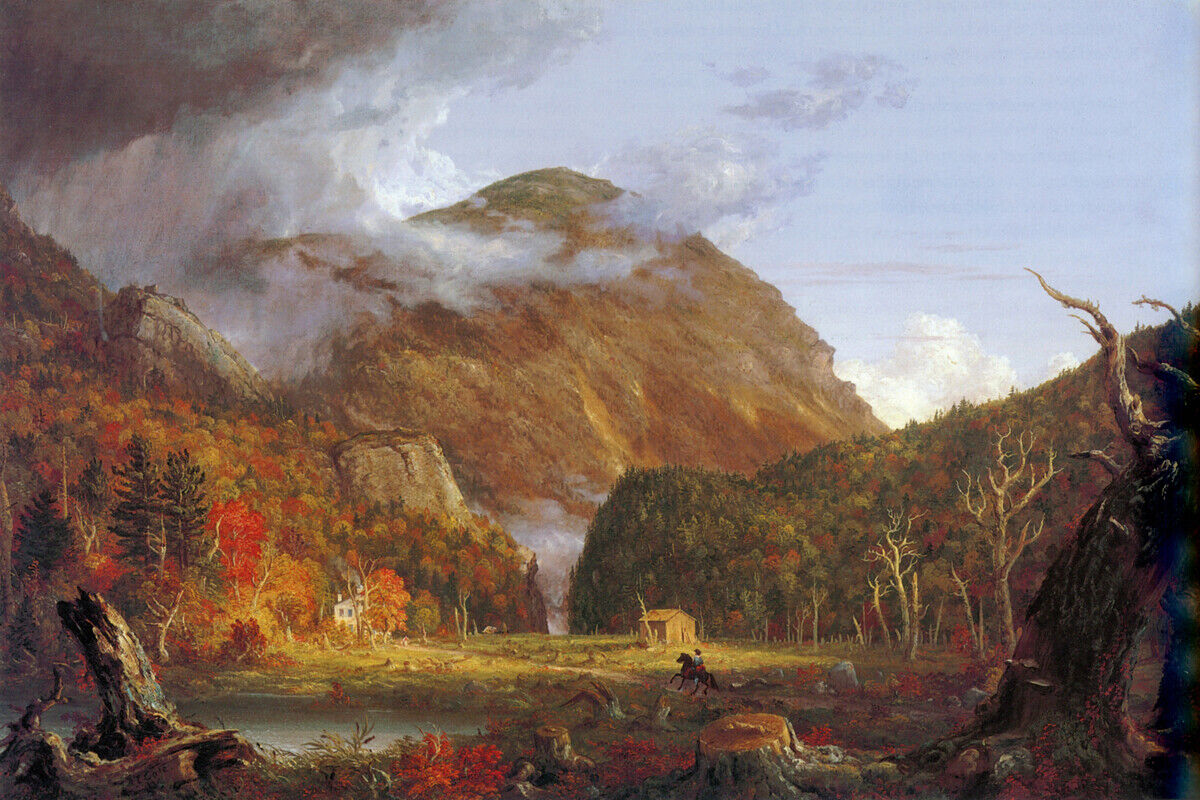 Thomas Cole- Notch In The Weiß Mountains - CANVAS OR PRINT WALL ART