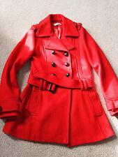 Debenham'S Red Herring GIRL'S RED Lana Cappotto Giacca 14 anni difficilmente indossato