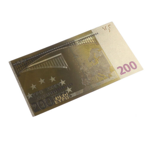 7pcs Euro Banknote Gold Foil Paper Money Crafts Collection Note Currency BS