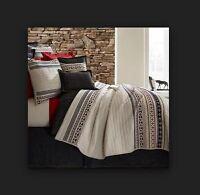 Cremieux Hunter Queen Quilt Set 3pc 100% Cotton Southwestern Red Blue Black Full