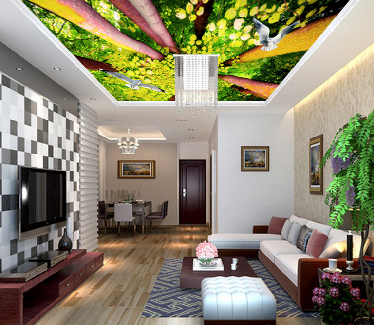 3D Forest Painting 8 Ceiling WallPaper Murals Wall Print Decal Deco AJ WALLPAPER