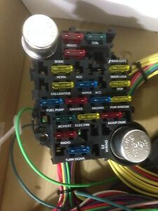 21 circuit 17 fuses ez wiring harness chevy mopar ford hot rod image is loading 21 circuit 17 fuses ez wiring harness chevy
