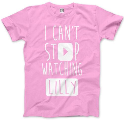 Non riesco a smettere di guardare Lilly-Vlogger Star youtubers Bambini /& Adolescenti T-shirt