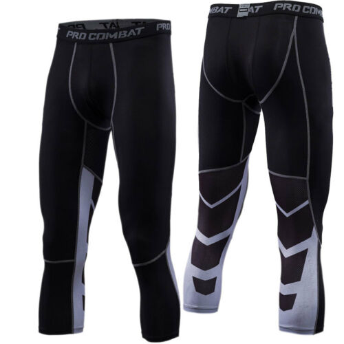 Men/'s Workout Compression 3//4 Pants Running Basketball Shorts Dri fit Sportswear