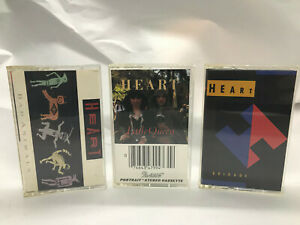 MUSIC-Cassettes-HEART-Bad-Animals-Little-Queen-Brigade-Tested