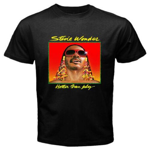 New Stevie Wonder Hotter Than July Album Cover Men/'s Black T-Shirt Size S-3XL