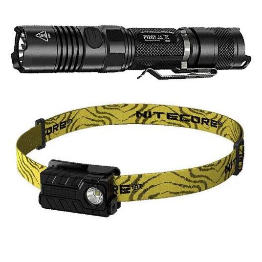 Nitecore P12GT Flashlight XP-L HI V3 1000Lm w NU20 Rechargeable Headlamp
