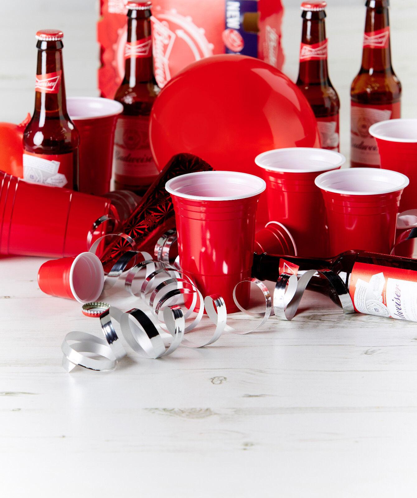 Amercian rouge oz plastique rouge Amercian partie cups (Bière Pong) jetables 50/100 / 1000 d0bb13