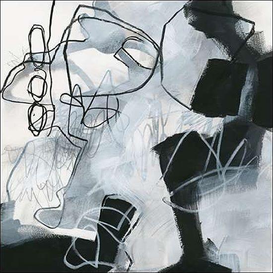 Jane Davies: Whats Happening II Keilrahmen-Bild Leinwand abstrakt modern grau