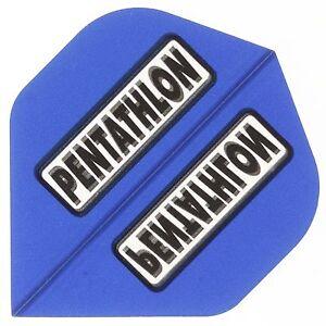 30 Pentathlon Standart Flights - 100 Mikron Stark - Farbe Blau