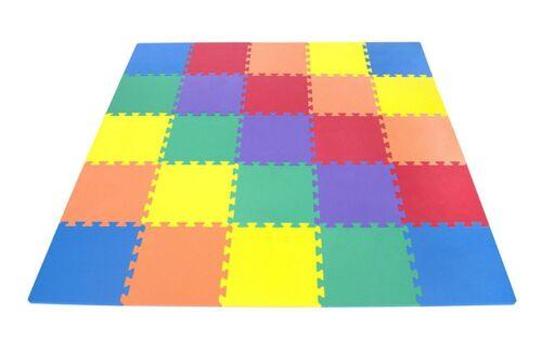 20pc Interlocking Multicolor Floor Mat Soft Foam Tiles Child Kids Activity