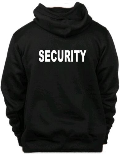 Sicurezza Felpa con cappuccio Felpa Bouncer PORTIERE Bodyguard Felpa con cappuccio Indietro /& Anteriore