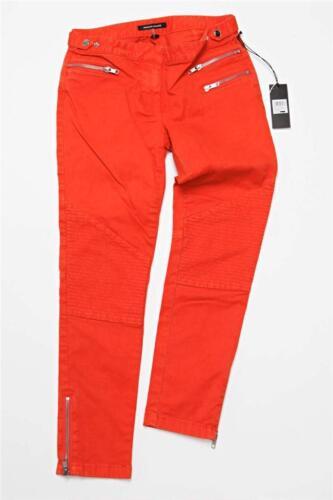 denim Moto Pantalon Orange Chiang en Jeans Sz 24 225 Rt New Monika nwqY7cxq