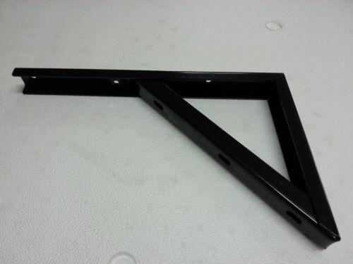 supporto base reggi mensola rinforzata staffa reggimensola cm 50 nero nera