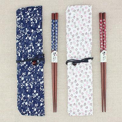 Japanese Natural Beech Wood Chopsticks Handmade Bento Partner Gift Pocket