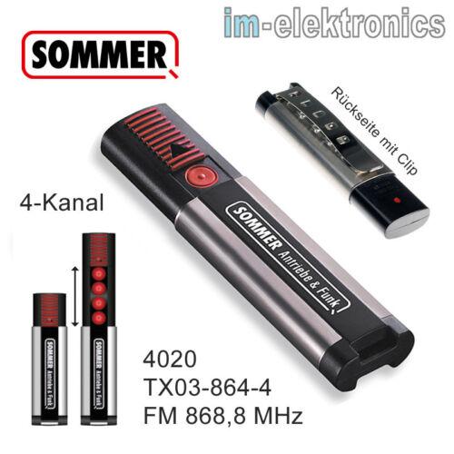 Sommer Émetteur 868,8 MHZ Pour Garages Opérateur de Porte Aperto Et Roma Gecco