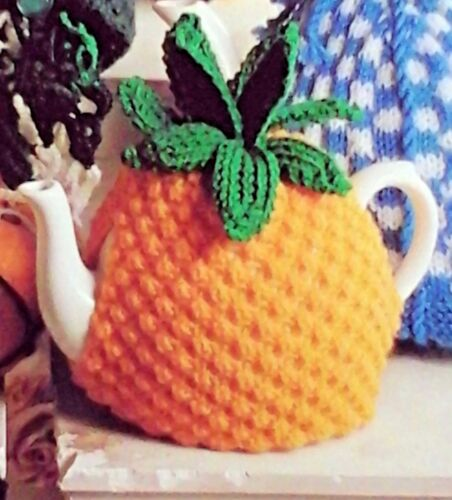 430 KNITTING PATTERN tea cosy teacosy large DK pineapple