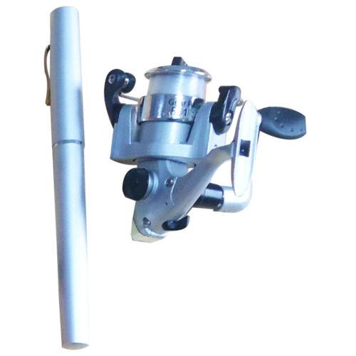 Spinning Reel Portable Mini Pen Size Aluminum Pocket Gift Fishing Rod Pole
