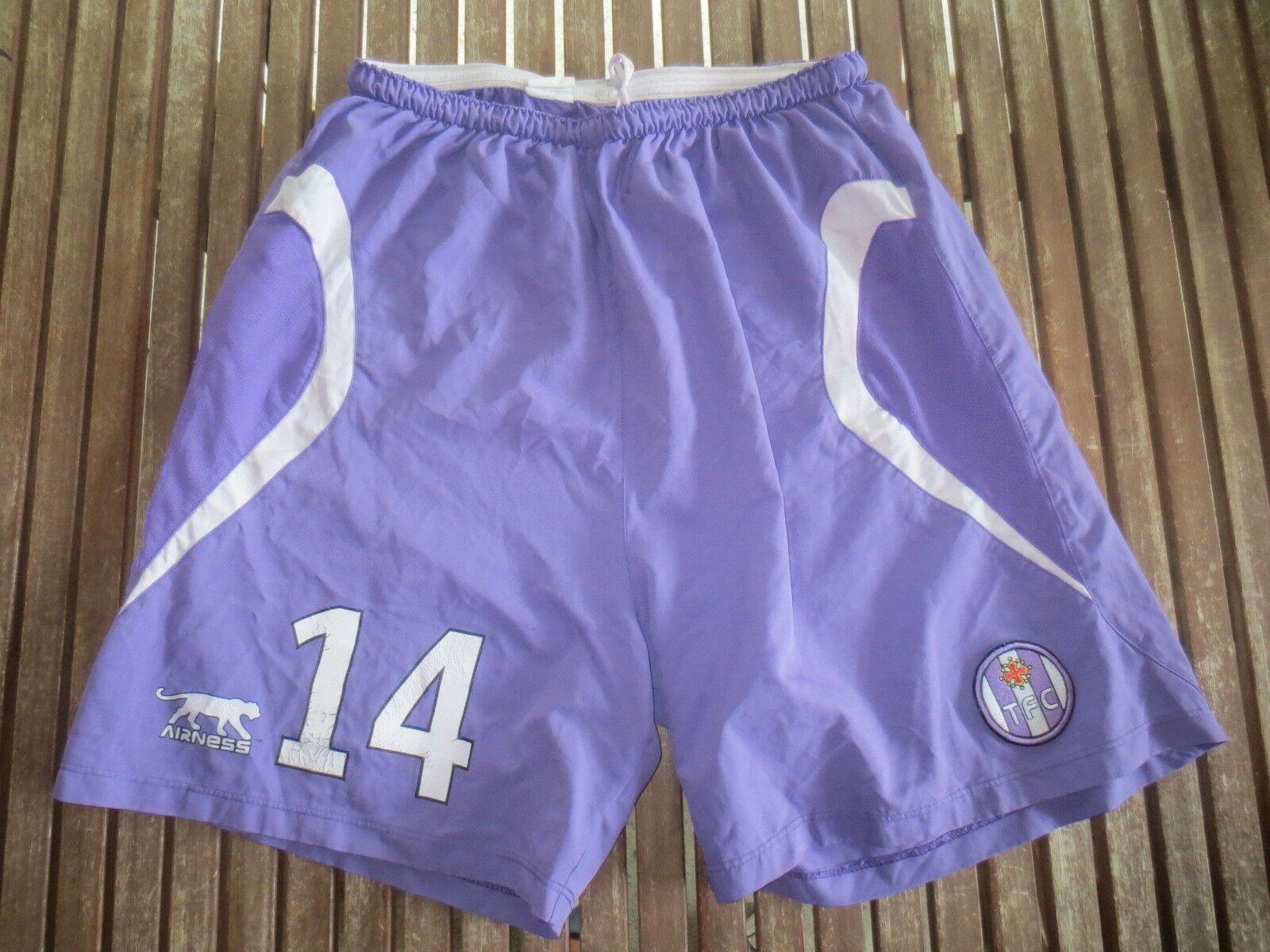 Short porté par PANTXI SIRIEX n°14 TOULOUSE TFC Airness purple worn XL