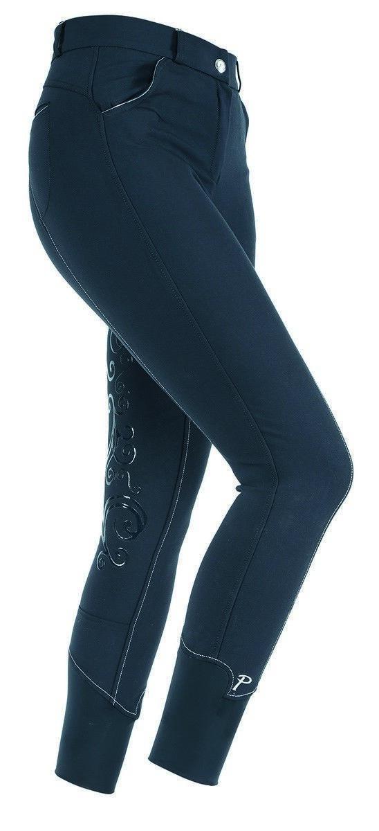 Shires canciller Asiento Completo Equitación Pantalones de montar para mujer con impresión de silicona