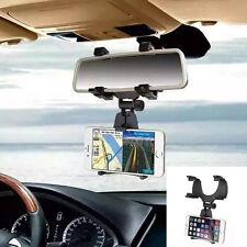 Schwarz360° Universal Auto KFZ Rückspiegel Halterung Handy Halter für Smartphone