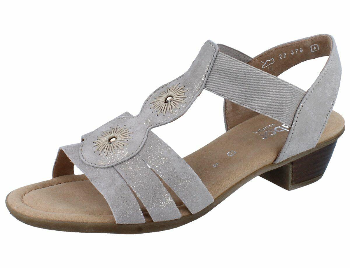 Gabor 22.474.95 Womens Sandal Clam Caruso Metallic NEW
