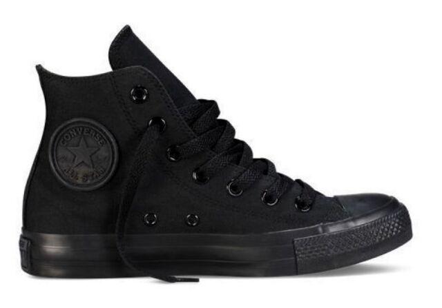 Converse Chuck Taylor Star Fashion Hi Top Black Mono Mens Womens Shoes Sizes NEW