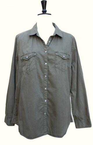 Ex High Street Olive Green Cotton Shirt SIZES 16 18 20
