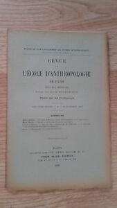 Recueil Mensual - Revista ESCUELA Antropología De París - 1899 - N º 10