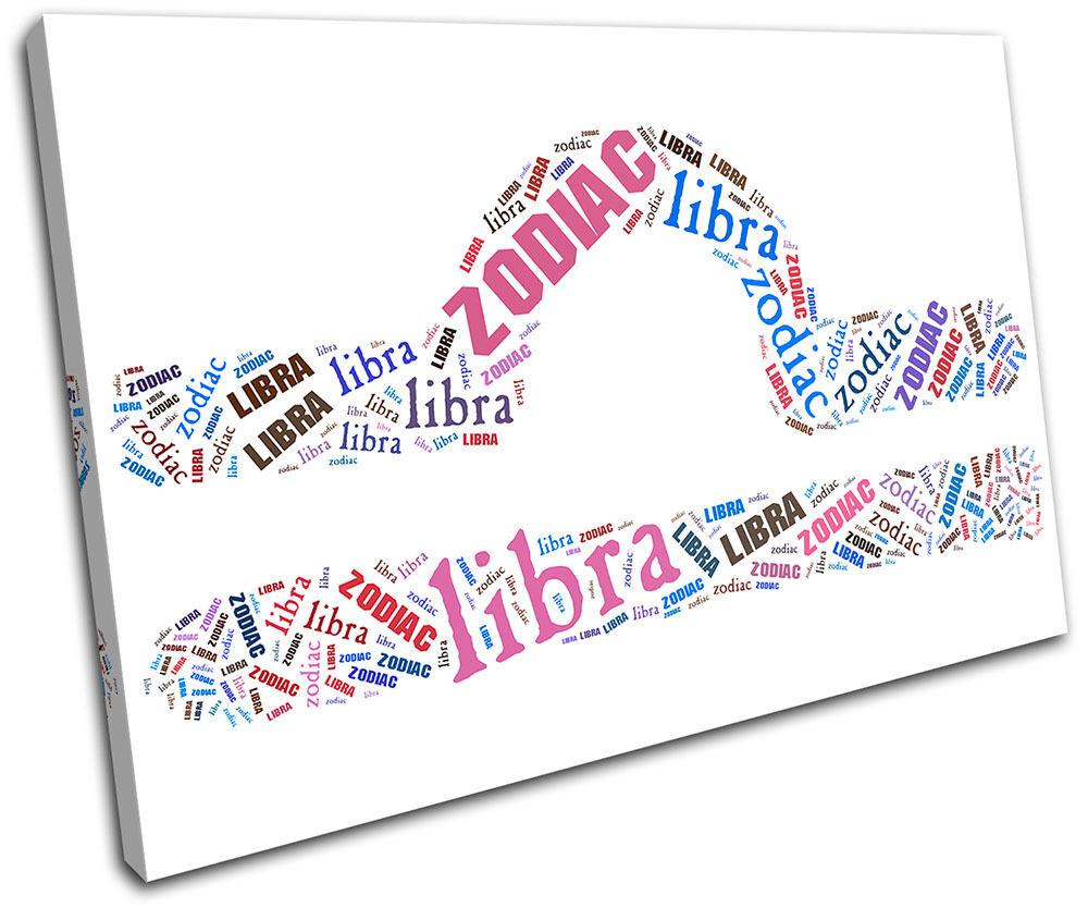 Libra Zodiac  Starsign SINGLE TOILE murale ART Photo Print
