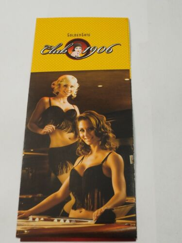 Golden Gate Club 1906 Hotel /& Casino Las Vegas NV 6 panel pamphlet