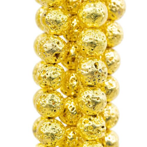 Pietra Lavica Placcato Oro 4mm World of Jewel