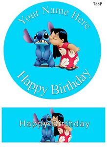 Stitch characters set of decoration ICING WAFER edible cake topper A4 size