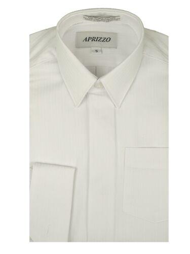 Boys French Cuff Cufflink White Textured Dress Shirt multiple Styles Sizes 4 /& 5