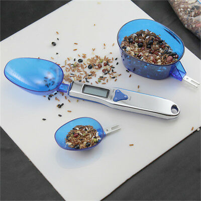 Kitchen Digital Mini Portable Electronic Spoon Scale Weights + 3 ladles 500/0.1g