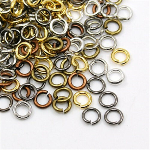 Mixed Color Close but Unsoldered Brass Jump Rings Crafts 5x1mm about 120pcs//10g