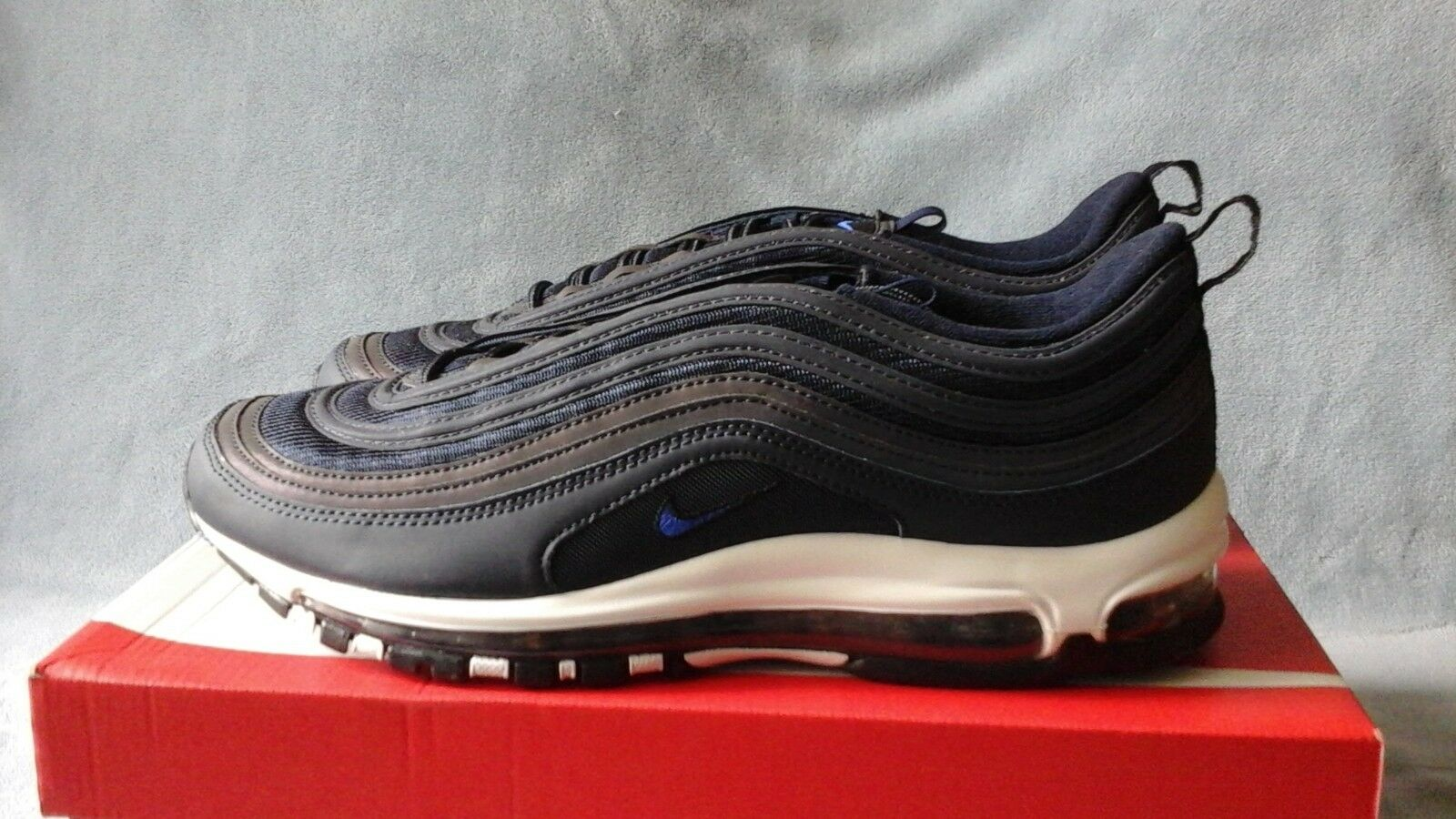 Mens Nike Air Max 97 Obsidian Navy 3M Reflective 921826-402 Size 11.5