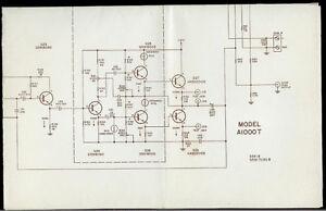 rare original harman kardon a1000t stereo amplifier amp schematic rh ebay com harman kardon hk395 service manual harman kardon hk395 wiring diagram