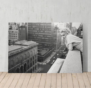 Image Is Loading Marilyn Monroe In New York Rooftop Decorative Art
