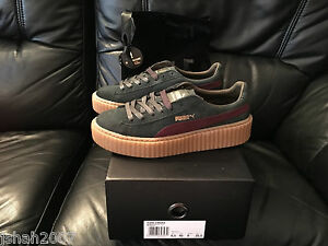 newest collection e66f4 aaf92 Details about PUMA RIHANNA GREEN RED GUM SUEDE CREEPERS FENTY ALL SIZES 3 4  5 6 7 8 TRAINERS