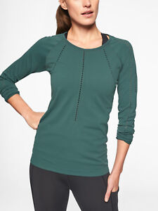 ATHLETA-Foothill-Long-Sleeve-NWT-Medium-Dark-Jade