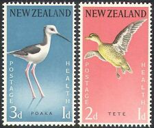 New Zealand 1959 Birds/Health/Teal/Stilt/Nature/Welfare/Wildlife 2v set (n20660)