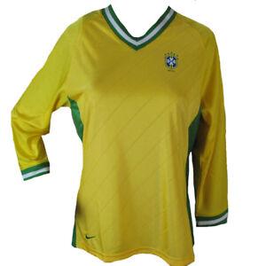La imagen se está cargando Brasil-Nike-Mujer-Camiseta-de-Futbol-Amarillo- Verde- 701ead0dc9c10