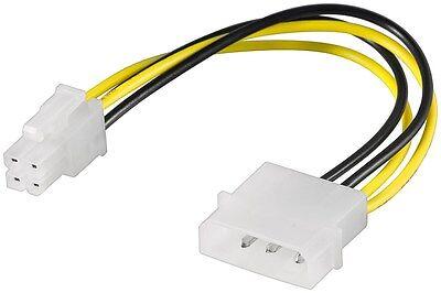 Onestà 4 Pin Molex Scheda Madre Cavo Alimentazione Adattatore 4-pin Ide Alimentazione Atx P4 Power 0,16 M 12v-