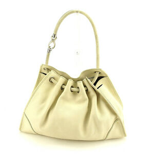 Tod-039-s-Shoulder-bag-White-Silver-Woman-Authentic-Used-Y6134