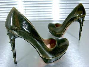 Decolte Mori Platform Pumps Scarpe Heels Italy Pelle 39 Verde Schuhe Verde PqqYwHfrS