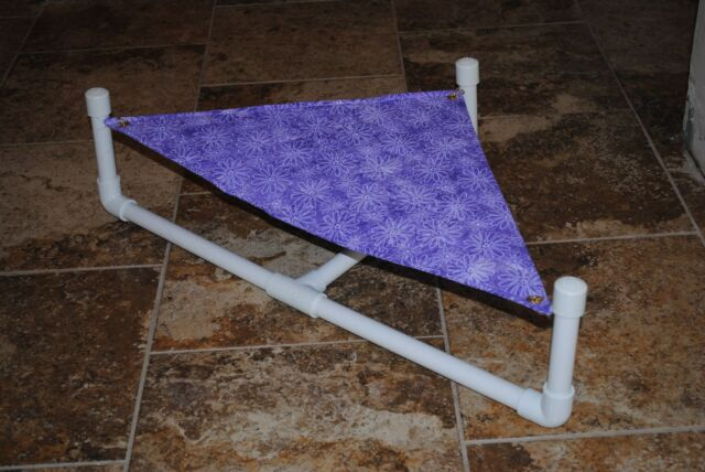 Handmade Large size hammock w/stand for Bearded Dragon, small reptile or lizard